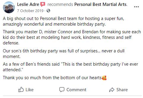 PB3, Personal Best Martial Arts Academy Port Coquitlam BC